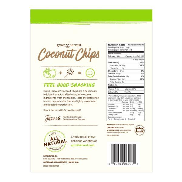 Coconut Chips Bag Back