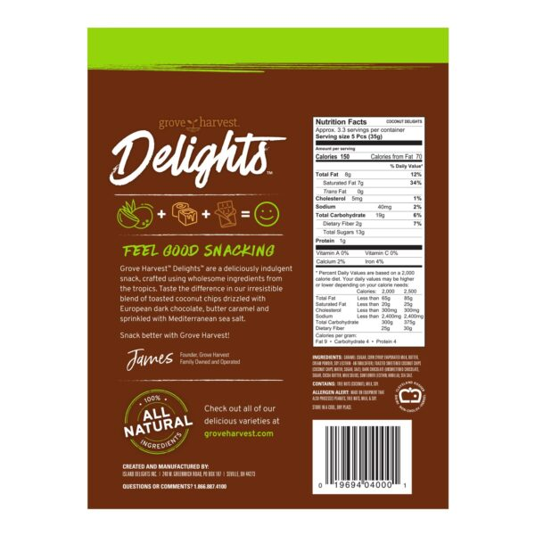 Coconut Delights Bag Back