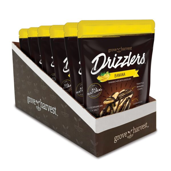 Grove Harvest Banana Drizzlers 6 Pack