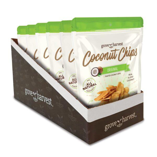Grove Harvest Coconut Chips 6 Pack